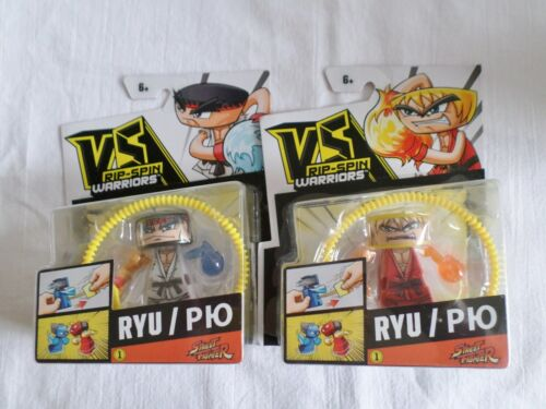 VS rip-spin WARRIORS STREET FIGHTER RYU P10-KEN SPIN FIGHTERS
