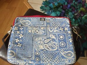 Lucky Holder Top Brand Cotton Schoudertas School Lap Blue Floral White Paisley FuK13lJcT
