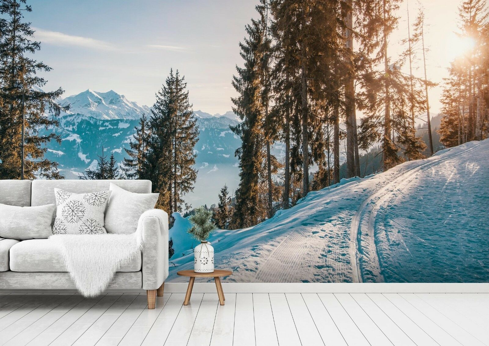 3D Snow Tree 7104 Wall Paper Print Wall Decal Deco Indoor Wall Murals US Summer