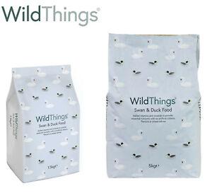WILD THINGS SWAN & DUCK WILDLIFE FOOD WATERFOWL WILD BIRD FLOATING PELLETS 1.5/5