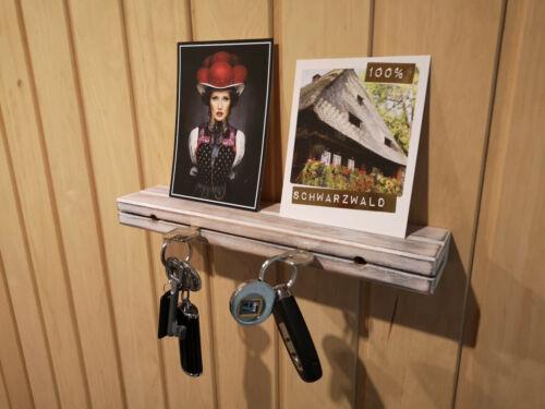 Schlüsselbrett Antik Weiß Schlüsselhalter in Schwebeoptik Schlüsselboard Shabby