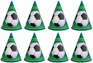 adef3c6145d944 Image is loading 8-x-Football-Soccer-Birthday-Party-Cone-Shaped-