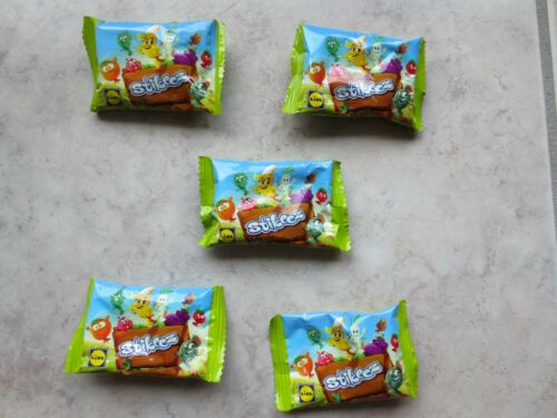 5x Stikeez Lidl Stickies Obst Gemüse Sammler Figur Beschäftigung Überraschung