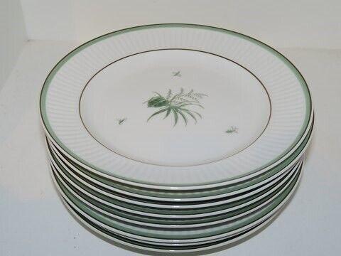 Porcelæn, Grøn Melodi  Kagetallerken 17 cm., Grøn