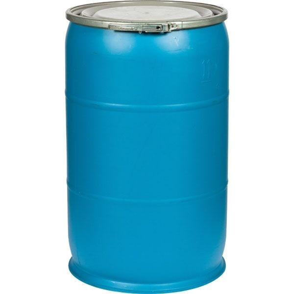 55 gallon plastic drum with open top