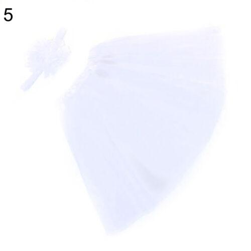 EE/_ Newborn Baby Girl Headband+Yarn Tutu Skirt Costume Photo Photography Prop Co