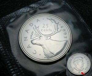 """Uncirculated Proof Like Caribou RCM 1998-25-cents no /""""w/"""""""
