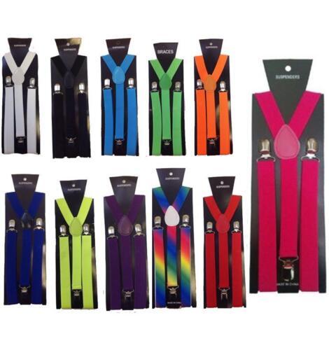 Childrens Boys Girls Braces Suspenders Elasticated Adjustable