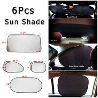 6x Nylon Van Car Side Rear Window Screen Sun Shade Mesh Cover Windshield Visor