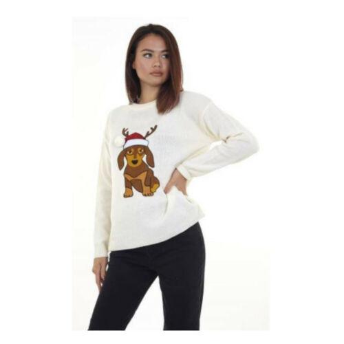 Brave Soul Womens//Ladies Dachshund Christmas Jumper 553