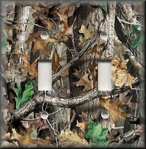 Image Is Loading Metal Light Switch Plate Cover Tree Camo Camouflage