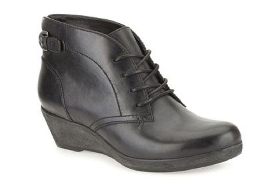 Vente nouveau femmes clarks cuir noir nataline Emmi CASUAL Pointure UK 4.5