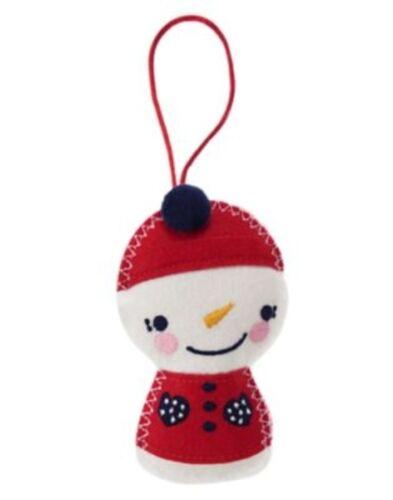 GYMBOREE HOLIDAY SHOP SNOWMAN CHRISTMAS TREE ORNAMENT 1-SIZE NWT