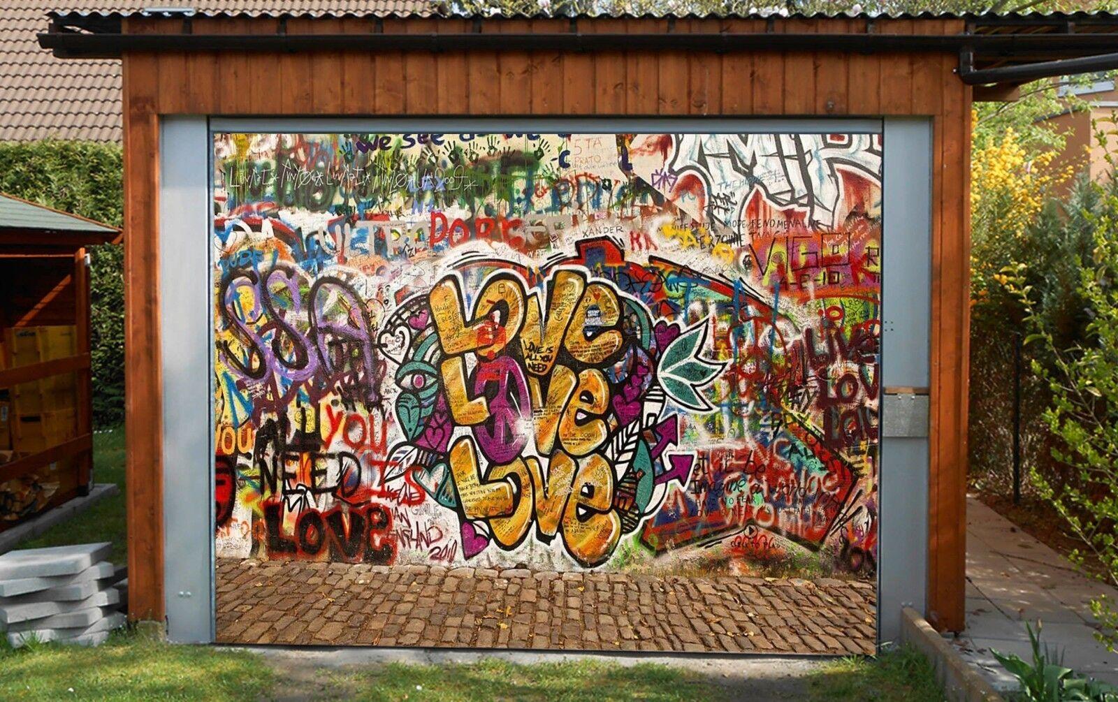 3D Love Farbe 56  Garage Door Murals Wall Print Decal Wall AJ WALLPAPER AU Lemon