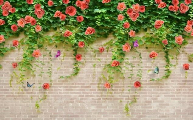 3D Flower Vine Wall 972 Paper Wall Print Wall Decal Wall Deco Indoor Wall Murals