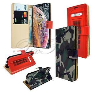Ejército & Cabina Telefónica Carcasa Móvil Cuero para Apple IPHONE X XR Xs Max+