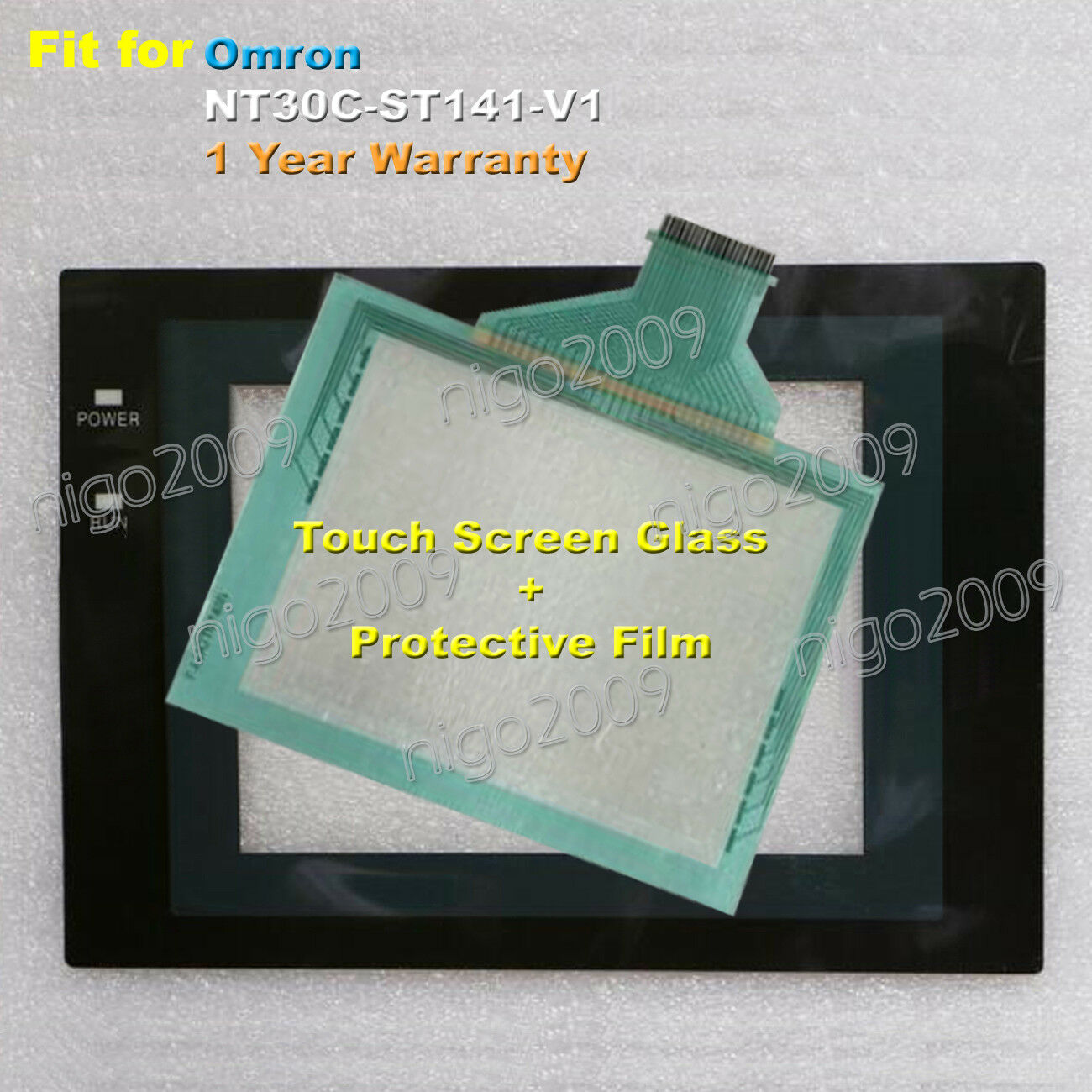 For Omron NT30C-ST141-V1 Touch Panel Glass + Predective Film 1 Year Warranty
