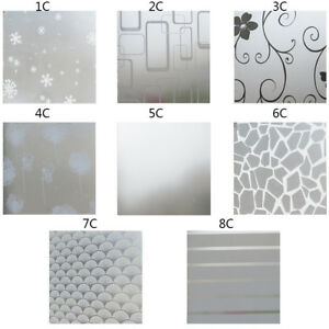 Waterproof PVC Self Adhesive Window Film Frosted Privacy Bathroom Glass Sticker