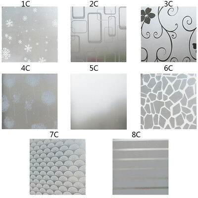 PVC Roll Frosted Privacy Home Bedroom Bathroom Glass Window Film Sticker Useful