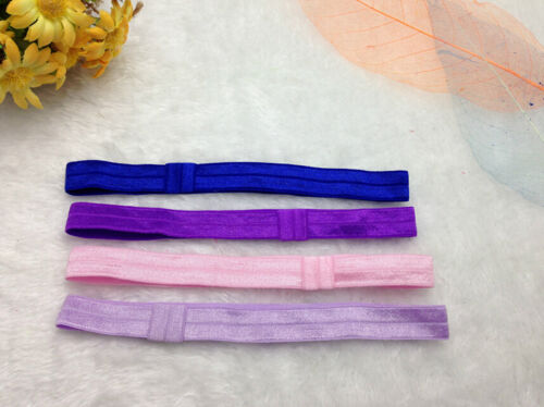 10PCS Baby Girl toddlers hairband Hair Bows Clips with elastic headbands Hot*AR