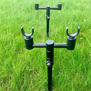 Saber-Black-Edition-2-Rod-Buzz-Bar-Bankstick-Set-Rod-Rests-Carp-Fishing
