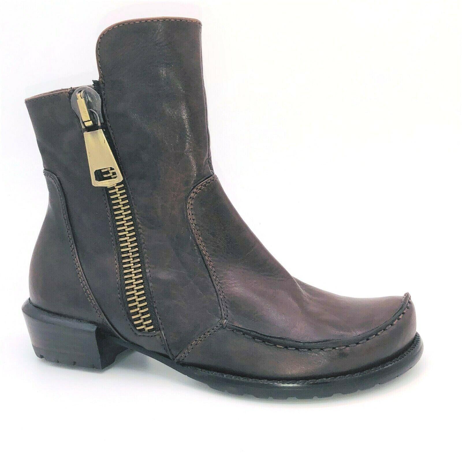 Größe Stiefel Stiefeletten Leder Schuhe Everybody 38 Braun