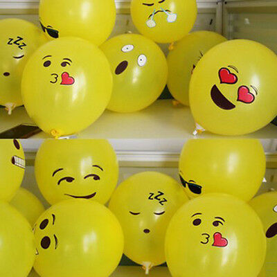 10/20/50Pcs Cute Emoji Face Balloons For Festival Birthday Party Xmas Supply