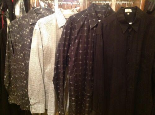 Lot of 4 Zanella Men's Dress shirts L
