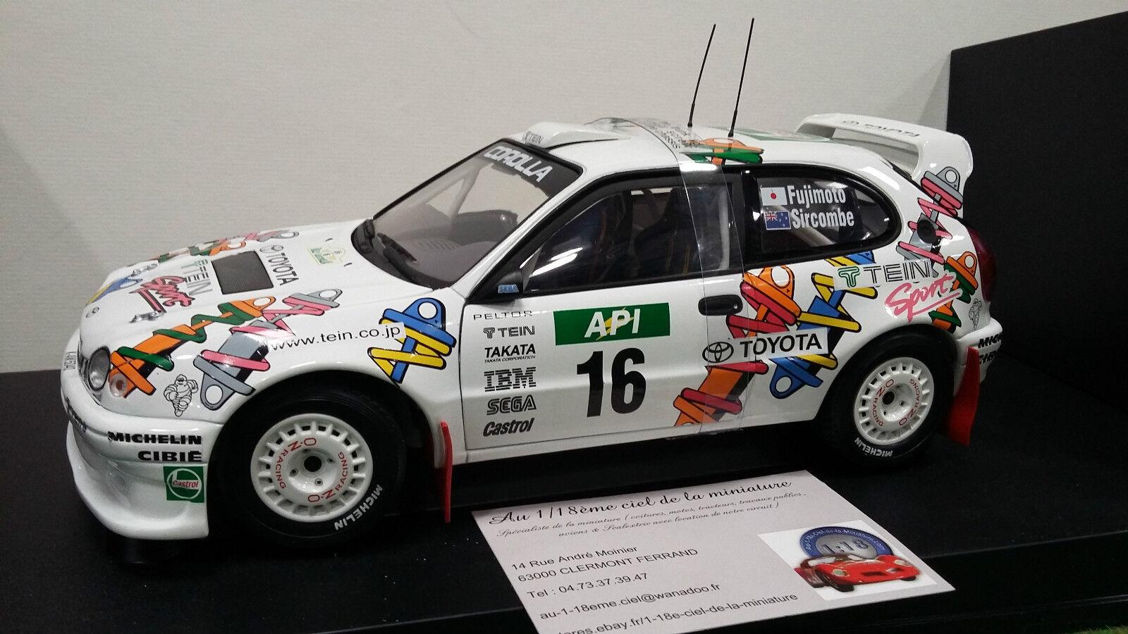 TOYOTA  CoroLLA WRC Rallye Australie 1998 Fujimoto Sircom 1 18 AUTOart 80028