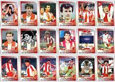 Red Star Belgrade European Cup winners 1991 football trading cards
