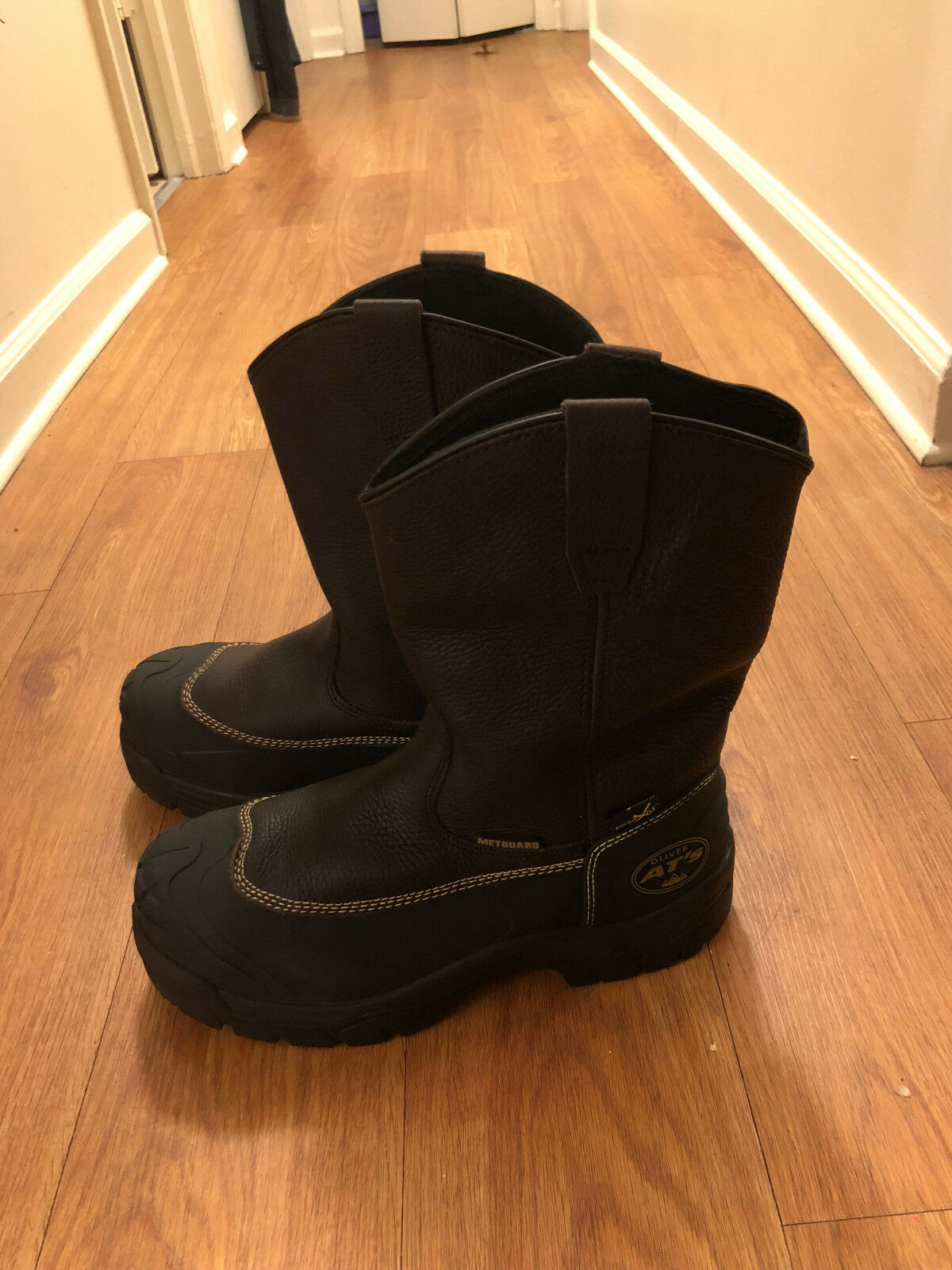 SZ 8 Oliver 65 Series 10  Chemical-Resistant Pull-On Leather Work Stiefel 65396
