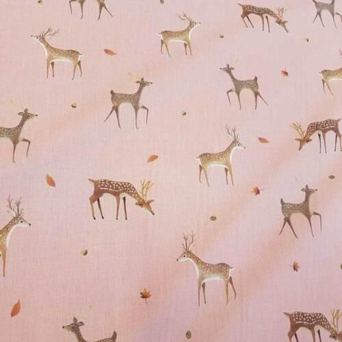 Sustancia METERWARE algodón Reh rosa rosa malva percal bosque impresión digital precio metros