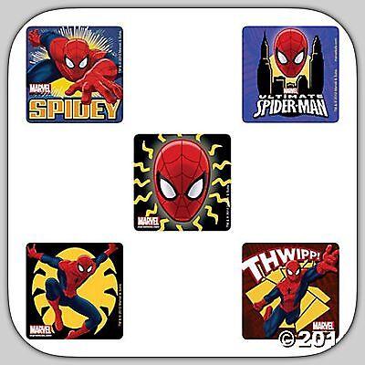 Spiderman Hero Birthday Favours Spider-Man Stickers x 5 Glow in the Dark