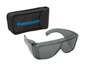 SUNSHIELDS Olympus Sunglasses Unisex Moulded Tinted Polarised Lens Fit Over