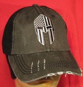 6e7561065c6 Spartan Helmet DARK EYES Baseball Ball Cap USA Flag Cotton Mesh ...
