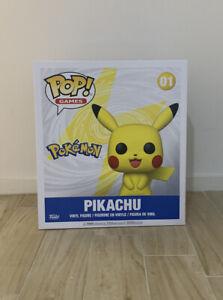 "Funko Pop! Games SEALED Pokemon Series 18"" Pikachu Vinyl Figure #01 Brand New"