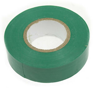 GREEN PVC Tape 20Mx19mm Electrical Insulation/Spo<wbr/>rts Racket &amp; socks
