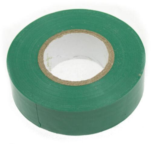 Vert pvc tape 20Mx 19mm x0.15mm pour isolation électrique//sports raquette /& chaussettes