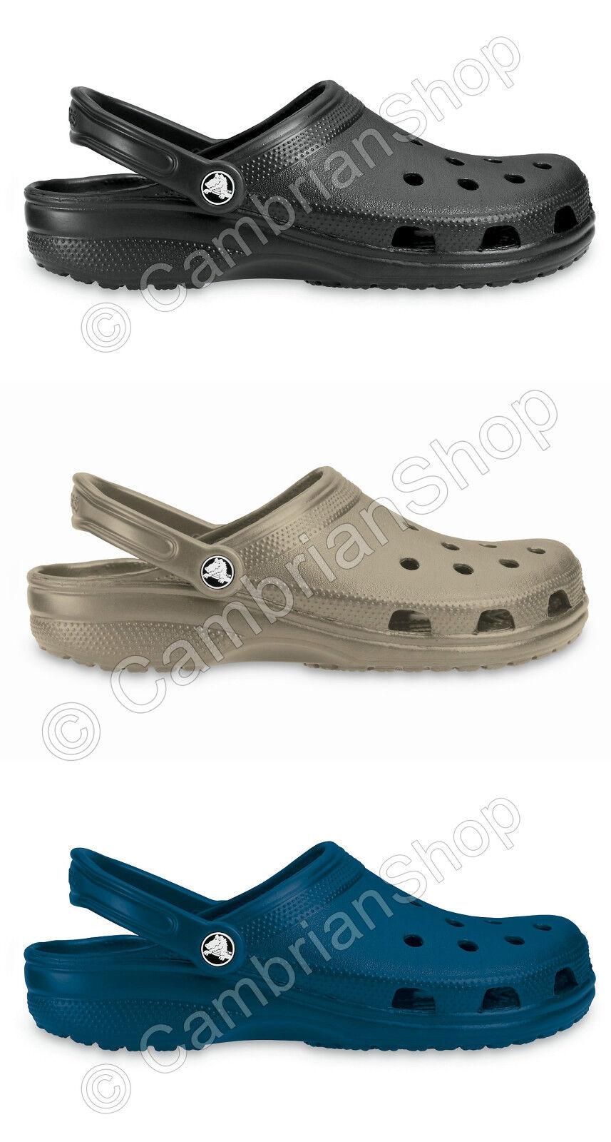 Genuine Crocs Classic Cayman Clog Adult Men Women Shoe Black Khaki Navy Blue