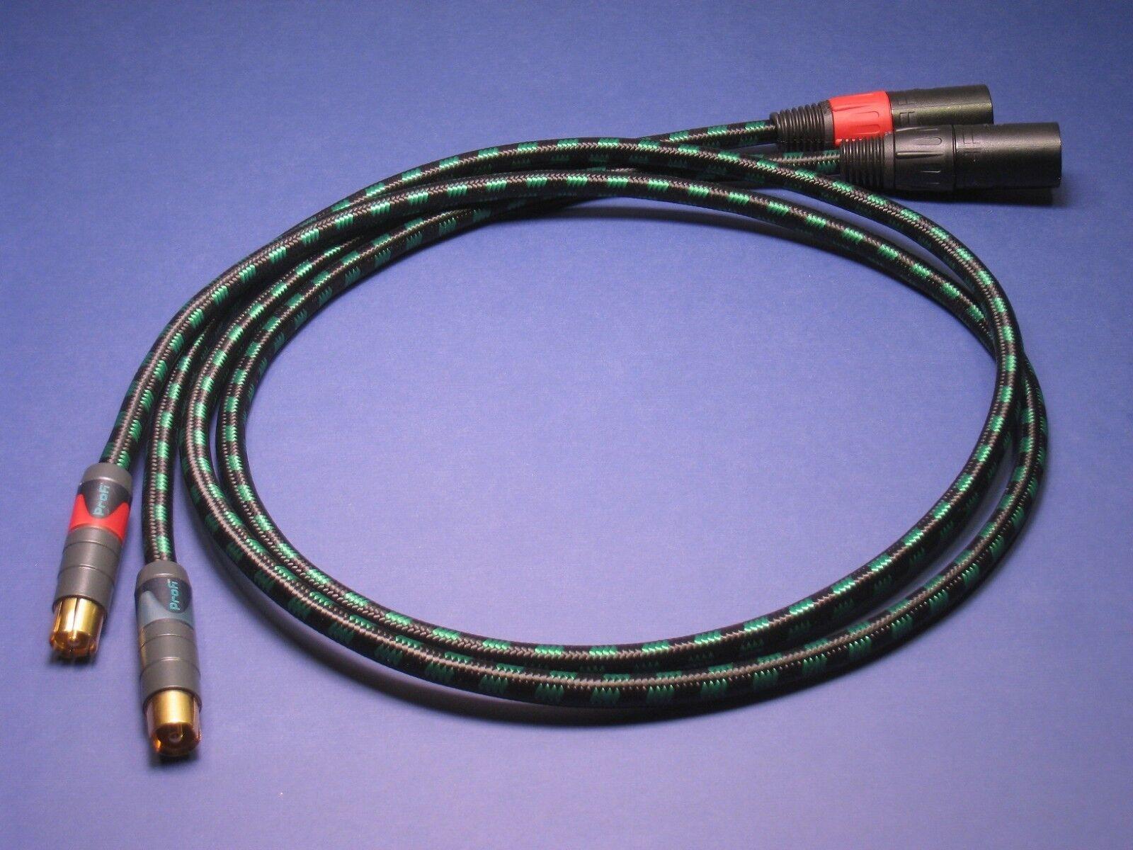 1.5 m XLR   RCA Audiophile Kabel  Paar Evidence Audio Lyric HG Neutrik Profi
