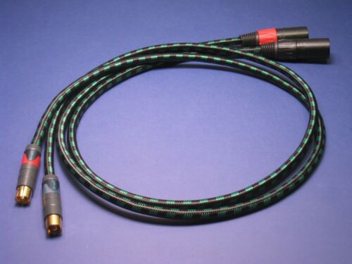 1 m XLR RCA Audiophile Cables ~ Pair of Evidence Audio Lyric HG Neutrik Profi