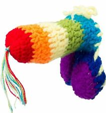 novelty knitted rainbow willy warmer stag do adult naughty rude joke gift