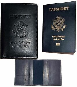 New-USA-Leather-passport-case-wallet-credit-ATM-card-case-ID-holder-Brand-New