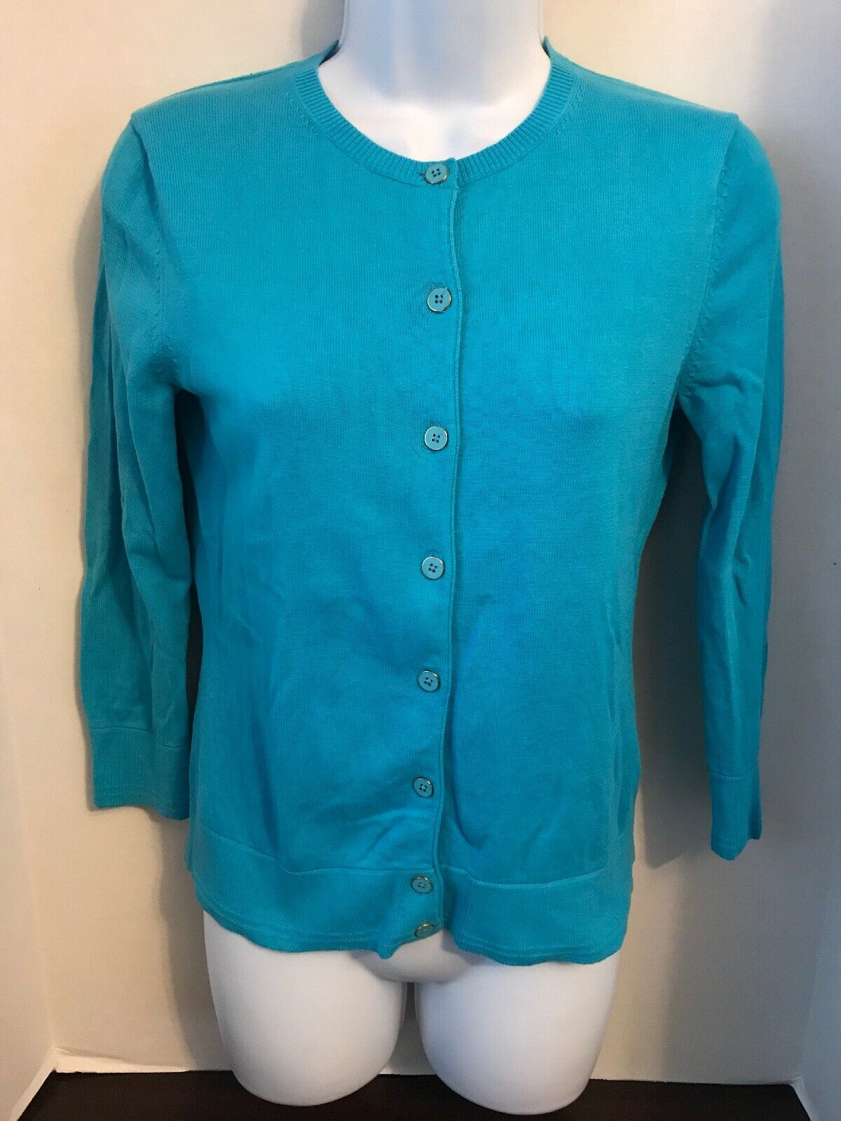Lilly Pulitzer Cotton Button Front Cardigan Sweater Aqua Aqua Aqua bluee Size XS a96516
