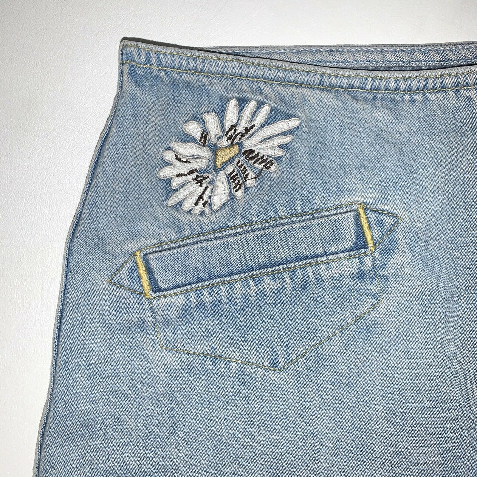 Anthropologie Skirt M.i.H Jeans Button Front A Li… - image 3