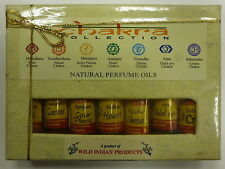Chakra Collection Indian Natural Perfume Oil - Non-Alcholic: Set of 7 Fragrances