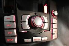 MMI Aufkleber Audi Alu matt optik mit CD/TV Taste A6 4f mmi 2G + 3G High