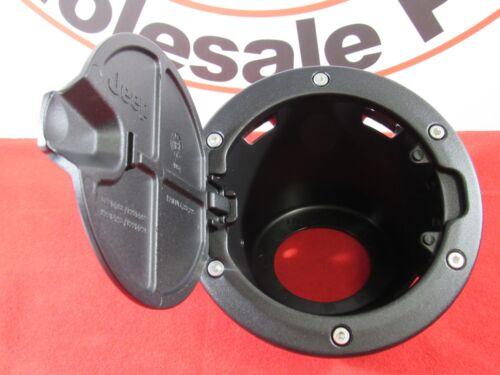 JEEP WRANGLER 2 DOOR ONLY Satin Black Fuel Door Decor Kit NEW OEM MOPAR