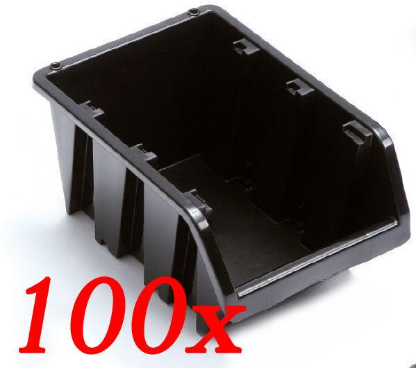 100 x Stapelboxen blacke Sichtlagerkästen Stapelkisten Lager Best Preis  NP4