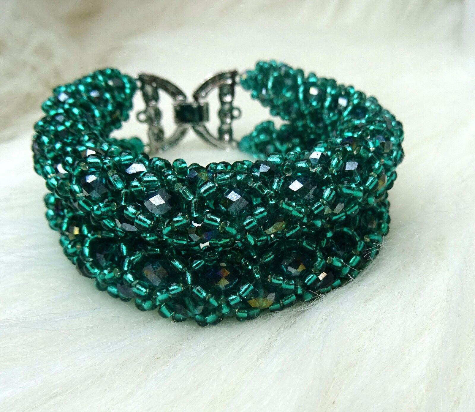 Piastrella verde E argentoO CURVA CURVA CURVA Design africano Perline Gioielli Da Sposa Festa Matrimonio Set 27f372